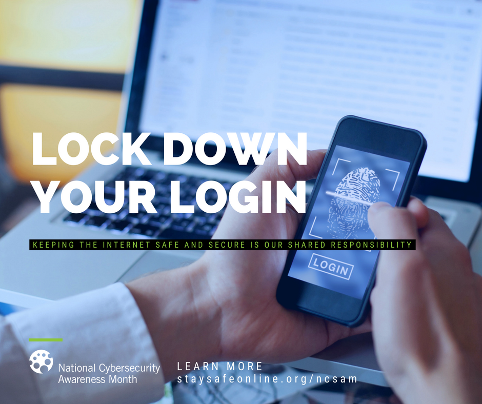 Lock Down Your Login - photo of hands holding smart phone with biometrics